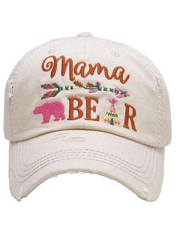 Mama Bear Ladies Vintage Trucker Cap