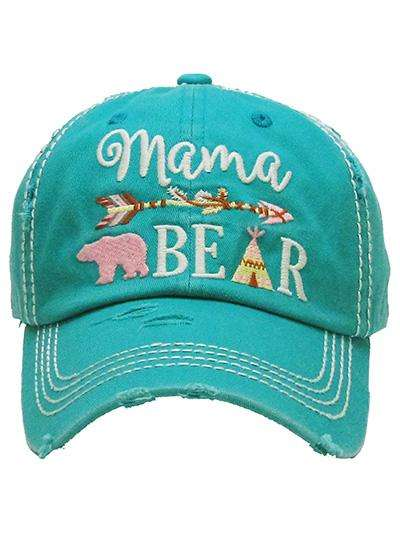 Mama Bear Ladies Vintage Trucker Cap,Caps