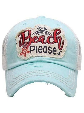 Beach Please Vintage Trucker Cap