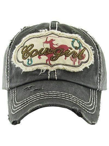 Cowgirl Vintage Distressed Cap