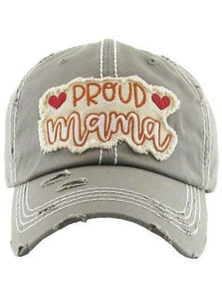 Proud Mama Distressed Vintage Cap