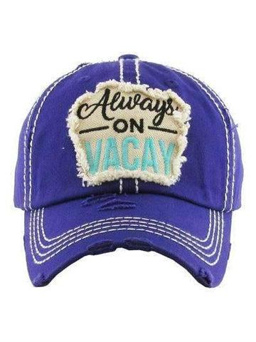 Always on Vacay Vintage Cap