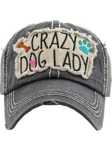 Crazy Dog Lady Vintage Distressed Cap