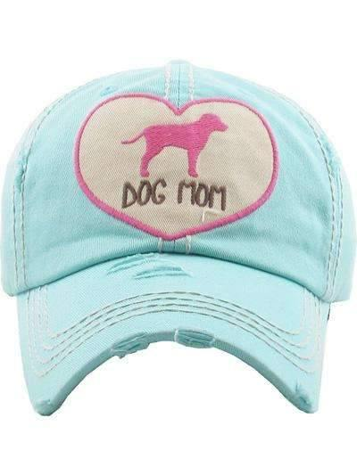 Dog Mom Vintage Cap Tiffany Blue,Caps