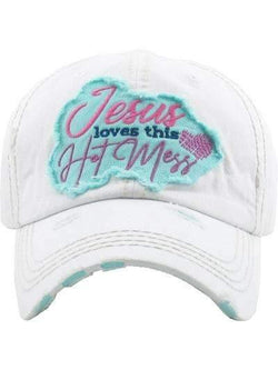 Jesus Loves This Hot Mess Vintage Cap