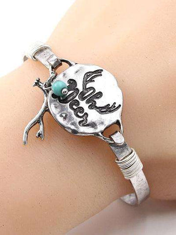 Oh Deer Burnished Silver Bracelet