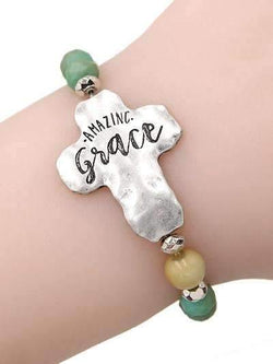 Amazing Grace Stretch Bracelet Turquoise