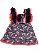 Load image into Gallery viewer, Fire Department Dress,Kids Clothes
