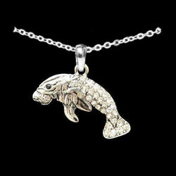 Manatee Rhinestone Necklace