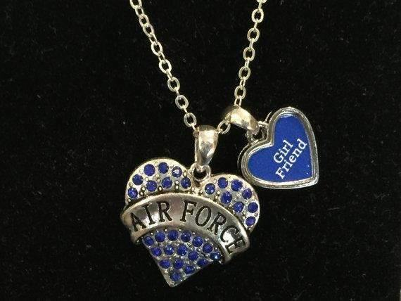 Air Force Girl Friend Heart Necklace