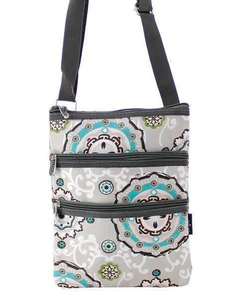 Garden View Print Cross Body Purse