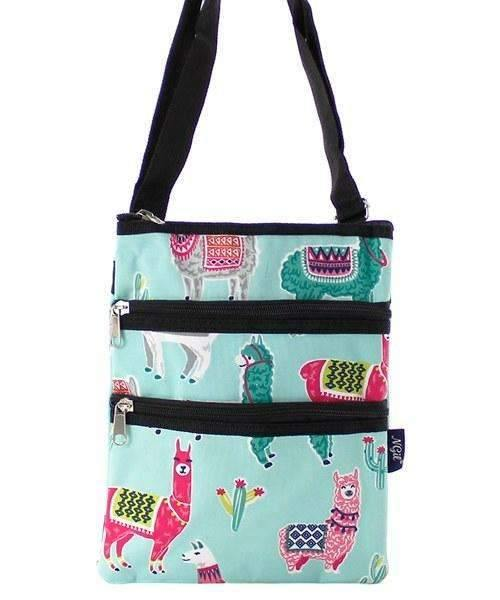 Mint Green Llama Cross Body Purse,travel bags