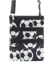 Load image into Gallery viewer, Soccer Print Cross Body Purse