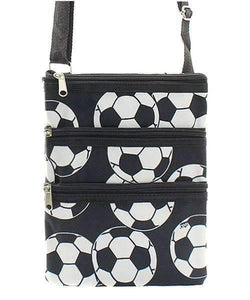 Soccer Print Cross Body Purse