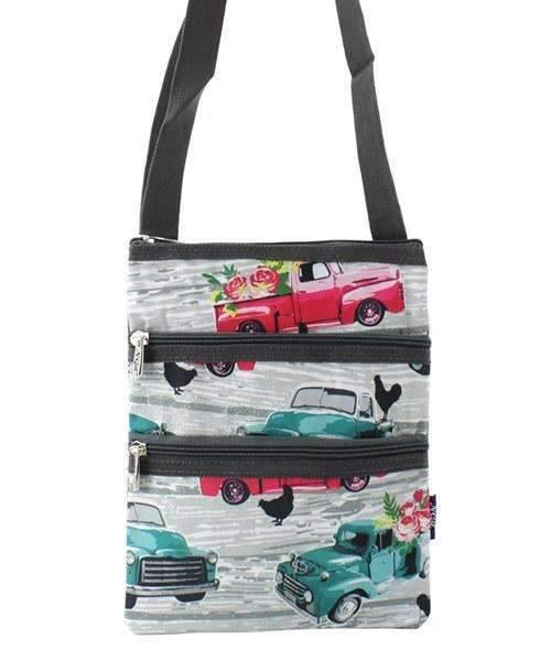 Old Trucks Print Cross Body Purse,travel bags