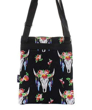 Load image into Gallery viewer, Steer Skull Print Cross Body Purse,travel bags