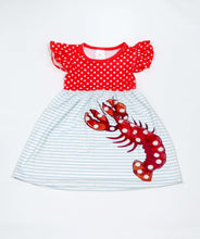 Load image into Gallery viewer, Lobster Crawfish Dress,Kids Clothes