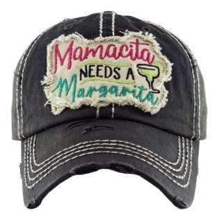Mamacita Needs A Margarita Vintage Cap Dark Gray,Caps