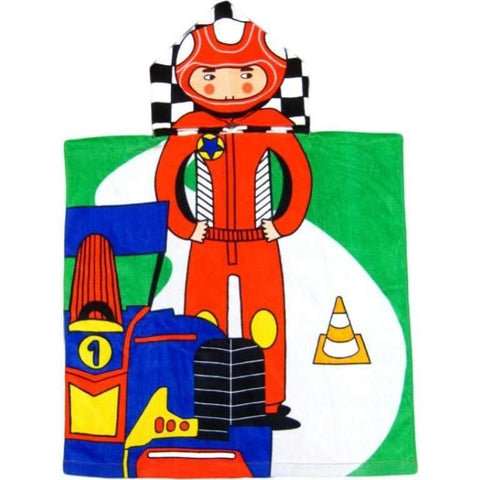 Race Car Driver Hooded Beach or Bath Towel