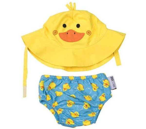 Puddles the Duck Swim Diaper & Sun Hat Set