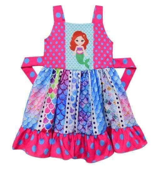 Mermaid Twirl Dress,Kids Clothes