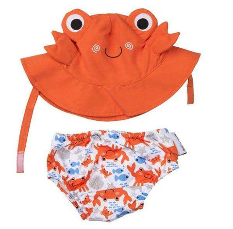 Charlie the Crab Swim Diaper & Sun Hat Set