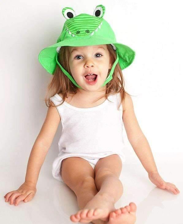 Aiden the Alligator Sun Hat for Children,Caps