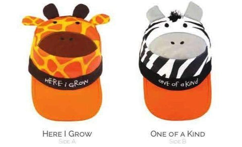 Reversible Baseball Style Cap for Kids Giraffe/Zebra