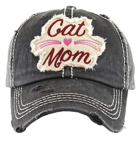 Cat Mom Vintage Trucker Cap