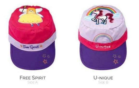 Reversible Baseball Style Cap for Kids Fairy/Unicorn