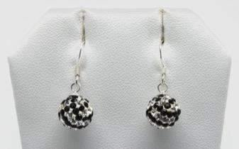 Volleyball Sterling Silver 10MM Dangle Earrings