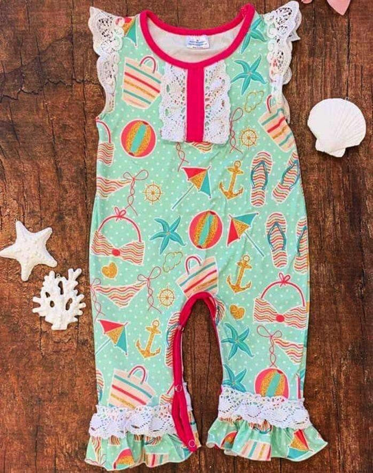Beach Babe Romper,Kids Clothes