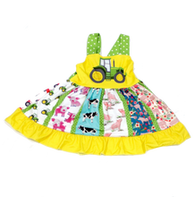 Load image into Gallery viewer, Farm Tractor Twirl Dress