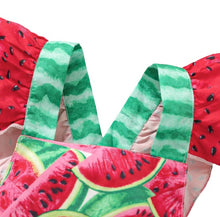 Load image into Gallery viewer, Watermelon Romper Green/Red