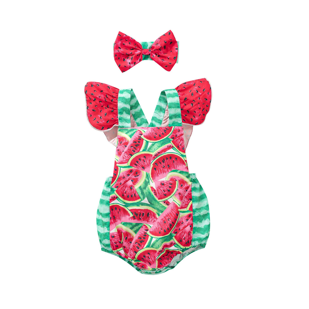 Watermelon Romper Green/Red