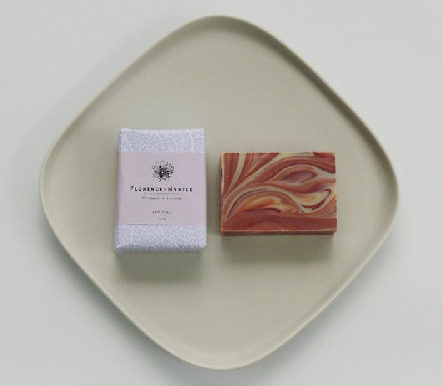 Florence + Myrtle  Red Clay Vegan Soap