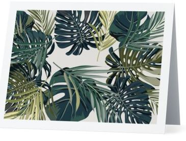 Monstera print greeting card