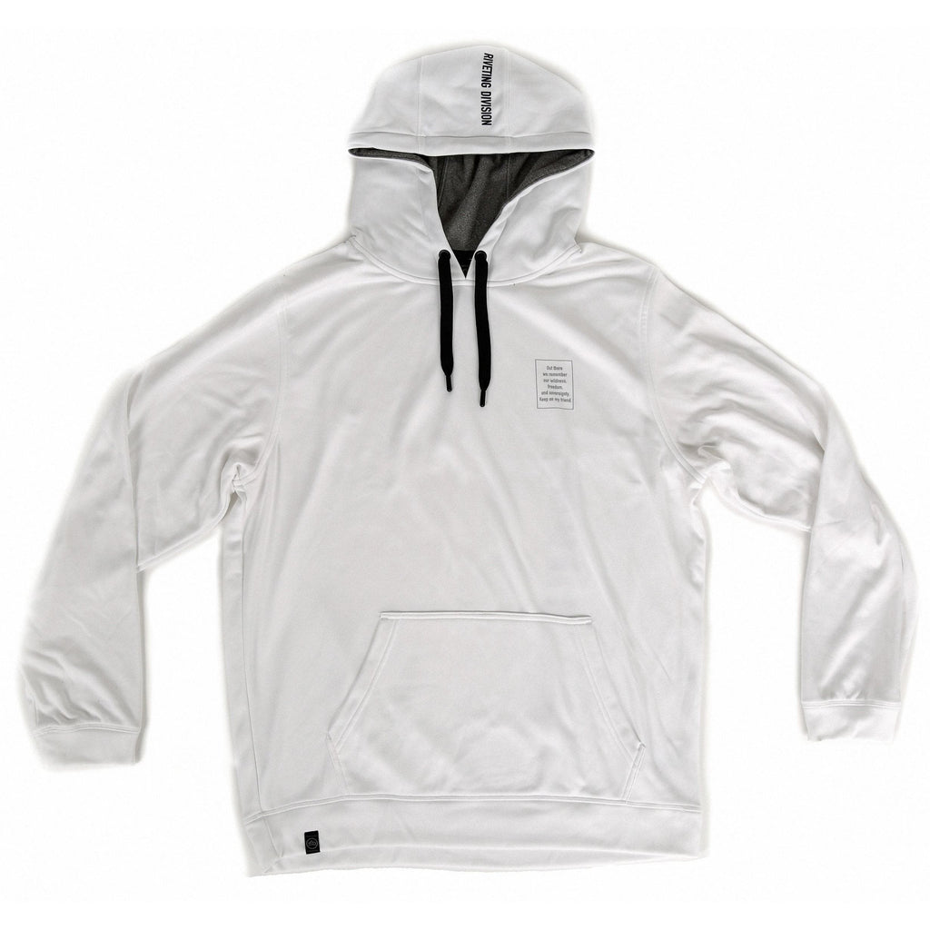 Cornerstone Hoodie [White] - Riveting Division