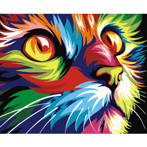 Four Brightly Colored Animal Designs To Paint Yourself-Try Your Favorite For A Relaxing Activity