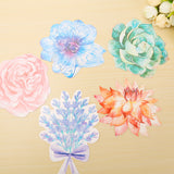 30 Designs-Gorgeous Watercolor Style Flowers on Cardstock