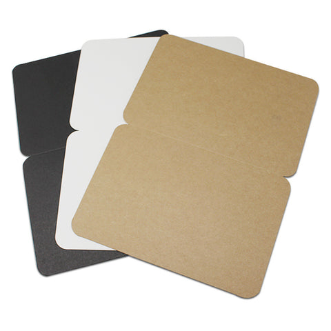 20 Blank Greeting Cards In Three Colors Of Cardstock-For Your Unique Ideas