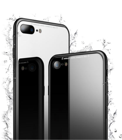 Hybrid Glass Case for iPhone 7 / 8 / Plus