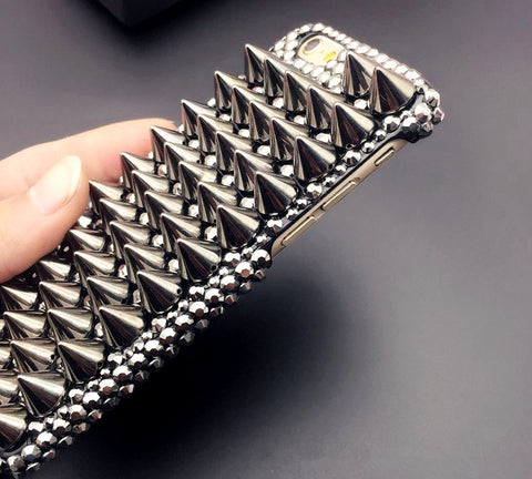 Spike-studded Punk Phone Case for iPhone