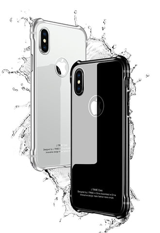 iPhone X Aluminum Tempered Glass Armor