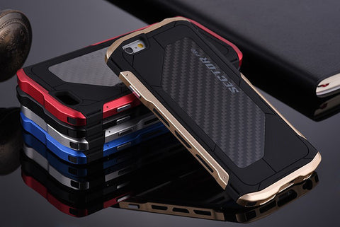 Ultra-thin Carbon-added Aluminum Phone Case for iPhone