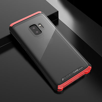 Metal Bumper Case With Tempered Glass for Samsung Galaxy S9 S9 Plus