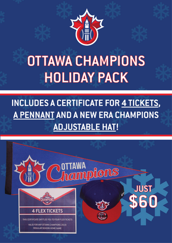 Holiday Pack with Champions Hat