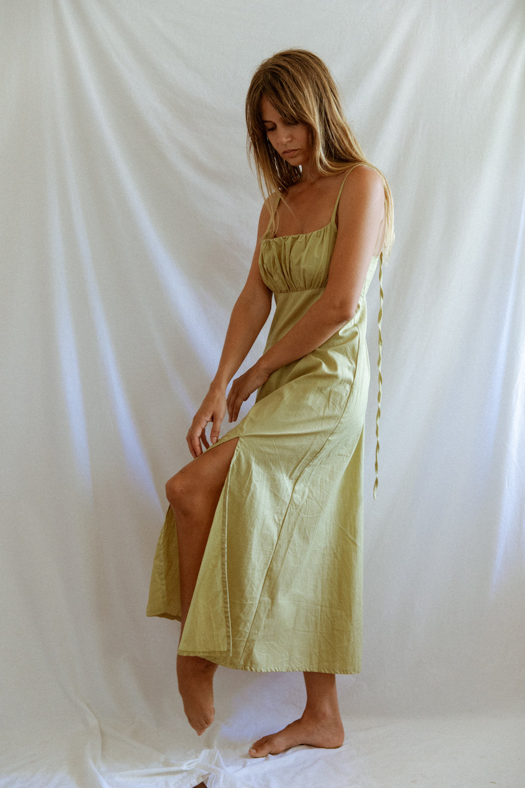 Dusk Maxi Dress - Cloudy Apple