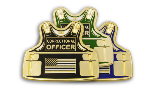 Vest-Shaped Corrections Officer Lapel Pin Custom Lapel Pin