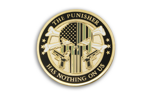 The Punisher Lapel Pin Custom